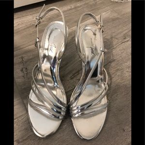 Size 7 silver shoes , slightly used!!!